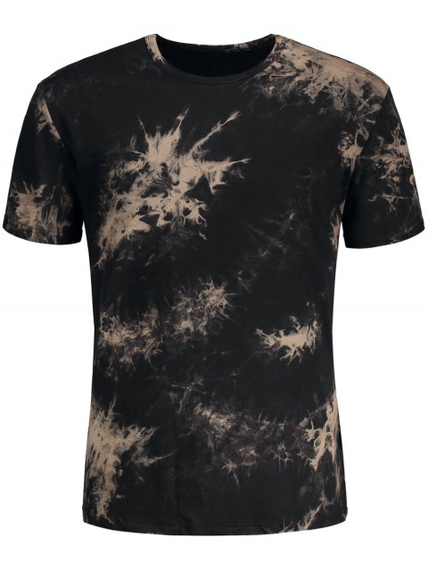 shops Short Sleeve Tie-Dyed Tee - BLACK M Mobile