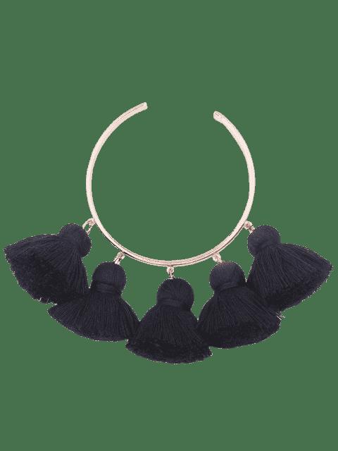 Bracelet en braille à manchette en alliage - Noir  Mobile