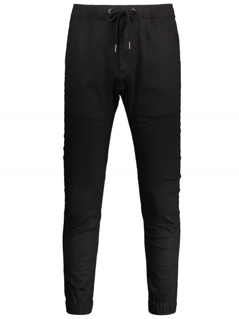 fashion Casual Drawstring Jogger Pants - BLACK 32 Mobile