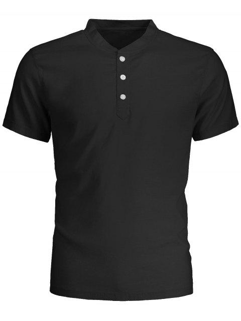 outfits Men Short Sleeve Polo Shirt - BLACK 3XL Mobile