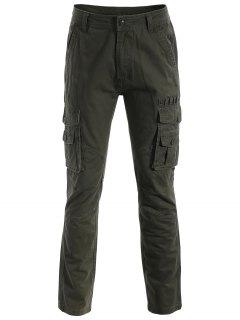 Flap Pockets Pants - Army Green Xl