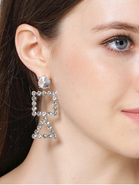 lady Rhinestone Triangle Geometric Dangle Earrings - GOLDEN  Mobile