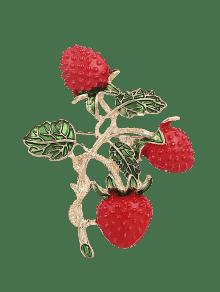 ليف، أثمر، الفراولة، بروش - أحمر