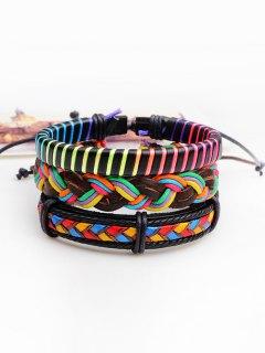 Ensemble De Bracelets En Corde En Faux Cuir Multicolore