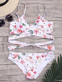 Floral Wrap Padded Bikini Set - S