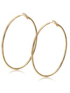 Alloy Engraved Hoop Earrings - Champagne