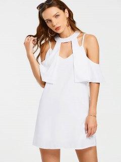 Robe Miniature Superposée - Blanc M