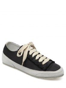 سويد إدراج أحذية الساتان - أسود 40