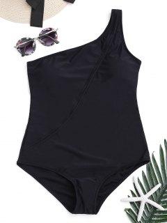 One Shoulder One Piece Swimwear - Black L