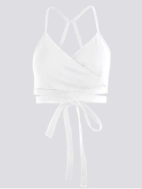 Dessus de yoga Active Wrap rembourré - Blanc S Mobile