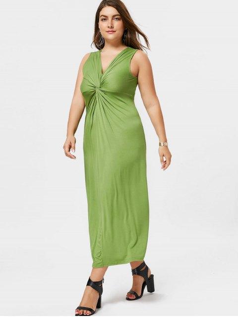 Robe Twist Plus Size - Herbe Verte 2XL Mobile