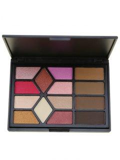 14 Colors Brow Powder Eyeshadow Cosmetic Palette - Black
