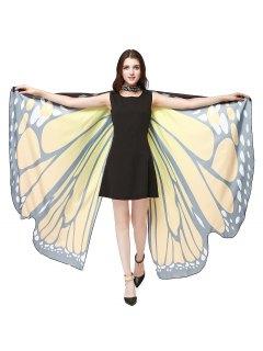 Chiffon Butterfly Strap Shape Wing Cape - Mandarin