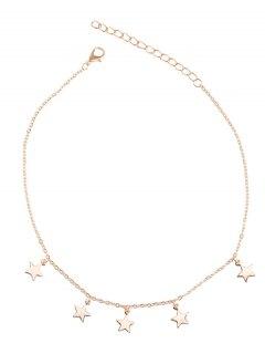 Charm Star Collarbone Chain Necklace - Golden