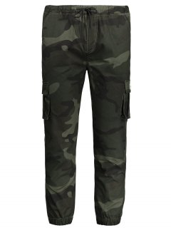 Drawstring Camouflage Jogger Pants - Army Green 4xl