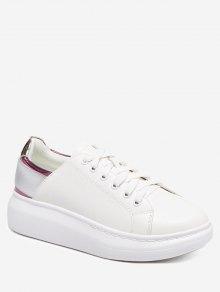 منصة أحذية كتلة اللون - أرجواني 37
