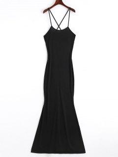 Criss Cross Cut Out Maxi Dress - Black S