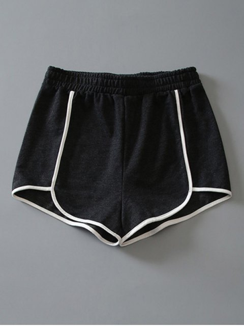 fashion Cotton Dolphin Shorts - DARK GREY L Mobile