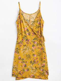 Floral Print Cami Wrap Dress - Ginger M