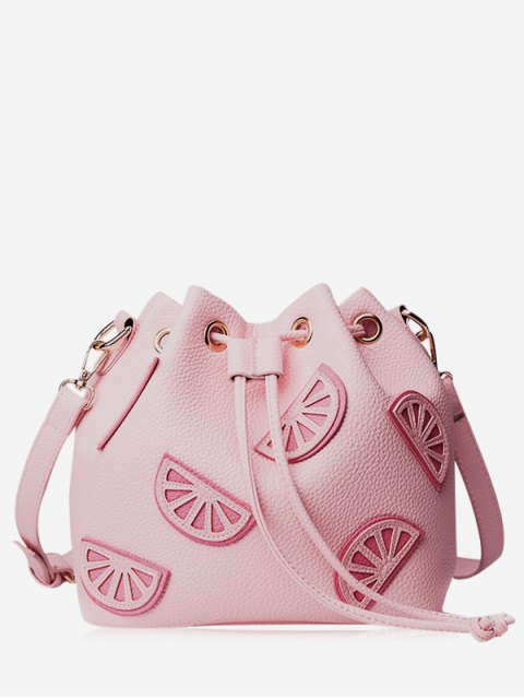 Sac de godet à cordon de couleur - ROSE PÂLE  Mobile