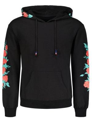 Pullover Floral Print Hoodie