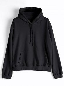 عارضة الكنغر جيب عادي هودي - أسود L