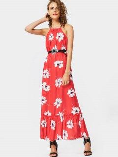 Floral Print Cami Maxi Dress - Floral Xl