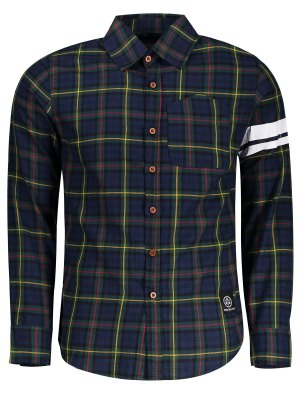 Mens Button Up Checked Shirt