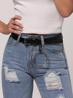 Hoop Pin Buckle Belt - Black
