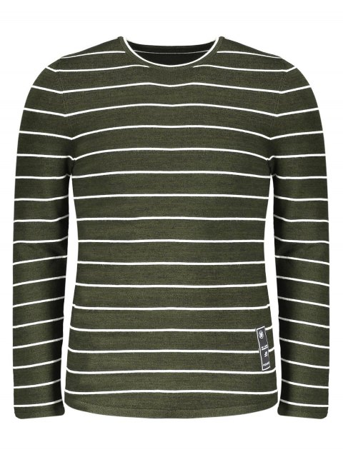 hot Mens Pinstripe Sweater - GREEN 2XL Mobile