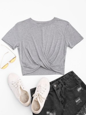 Twist Cropped T-shirt