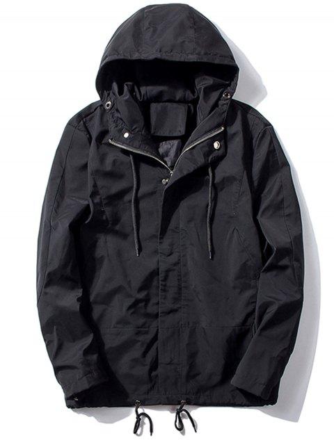 Veste à capuche à épingle à épaulettes - Noir M Mobile