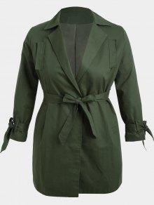 معطف الحجم الكبير لف قطني - الجيش الأخضر 2xl