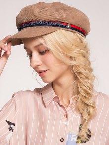 المنسوجة حبل منمق قبعة قبعة بيريتريبد - كاكي