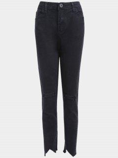 Plus Size Distressed Jeans - Black 2xl