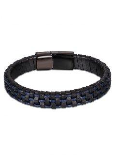 Bracelet En Cuir Artificiel Frais - Bleu