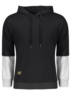 Pullover Two Tone Hoodie - Black And Grey 2xl
