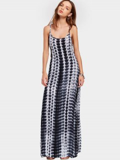 Slit Printed Open Back Cami Maxi Dress - Multi L
