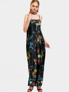 Floral Tropical Wide Leg Jumpsuit - Floral S
