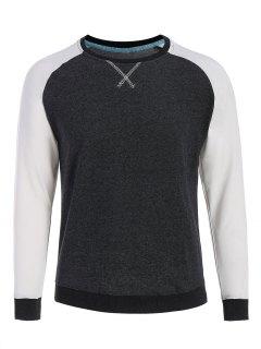 Mens Baseball Sweatshirt - Dark Grey Xl