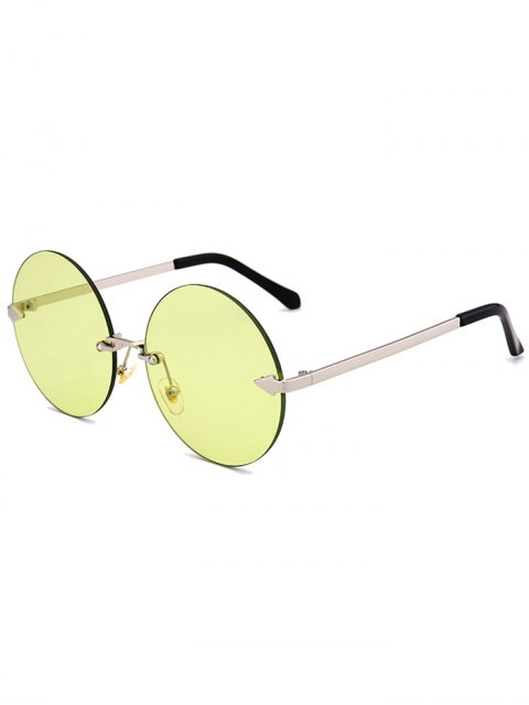 shops Jelly Lens Round Rimless Sunglasses - CELADON  Mobile