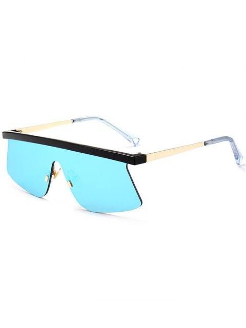 Lunettes de soleil semi rétrécissables miroir - Bleu Glacé  Mobile