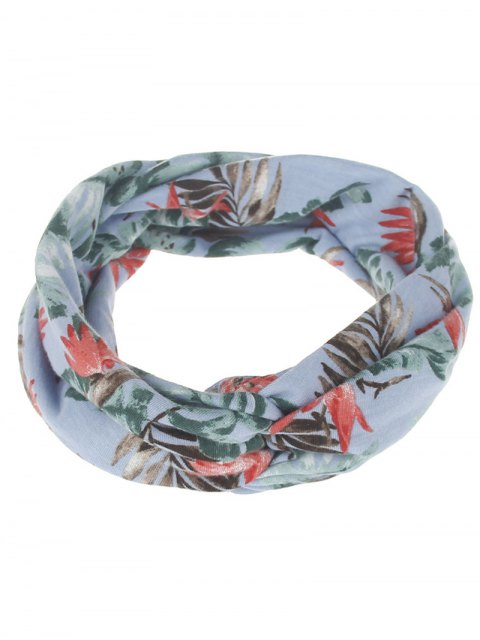 outfit Multiuse Leaf Printed Elastic Hair Band - #01  Mobile