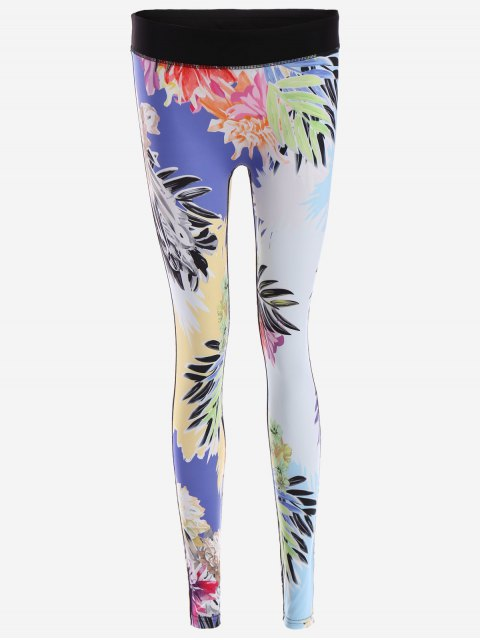 Jambières de yoga pour imprimés floraux - Floral S Mobile