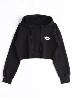 Cute Cropped Hoodie - Black S