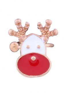 Christmas Deer Ear Cuff - Red