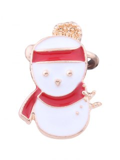 Christmas Snowman Ear Cuff - White