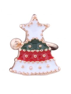 Christmas Tree Star Ear Cuff - White