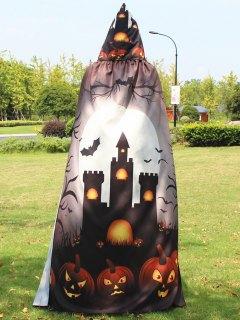 Halloween Print Magic Cloak - Khaki