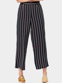 High Waisted Wide Leg Stripes Pants - Stripe S